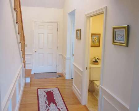 Entrance to the home -half bath ioff hall- 151 Sky Way Chatham Cape Cod New England Vacation Rentals