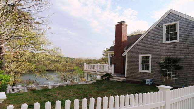 Fenced yard directly off deck 151 Sky Way Chatham Cape Cod New England Vacation Rentals