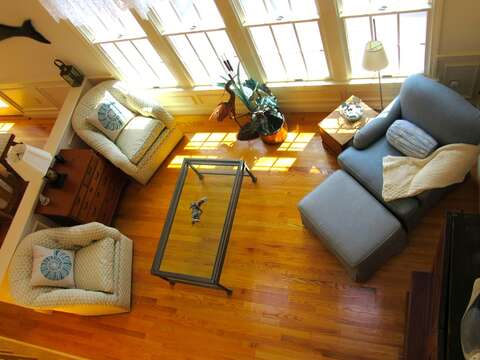 2nd sitting area - view from 2nd floor-151 Sky Way Chatham Cape Cod New England Vacation Rentals