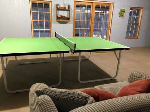 Ping pong in basement-151 Sky Way Chatham Cape Cod New England Vacation Rentals