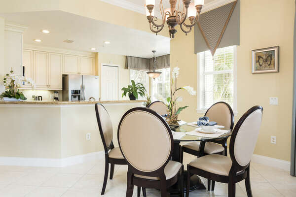 Open concept living makes it easy to be with family and friends