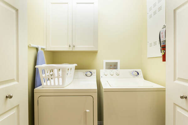 Full-sized washer and dryer in your condo