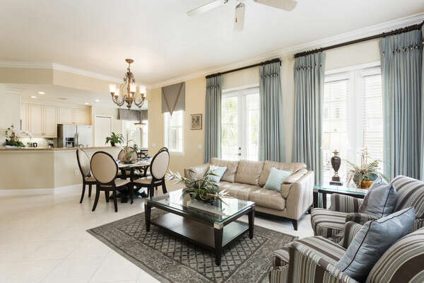 Enjoy watching TV in this beautifully decorated living room