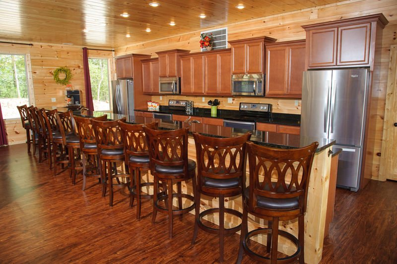 Luxury Kitchen Provides Bar Seating.
