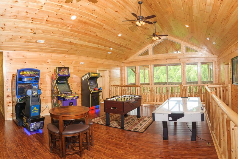 Game Room Includes Arcade Games and Pool Table.