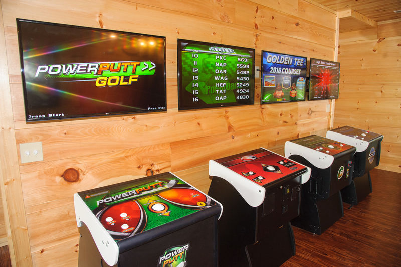Four Arcade Games in Game Room.