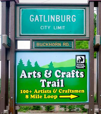 Image of the Gatlinburg Arts & Crafts Trail.