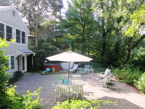 Back patio - 21 Beechwood Road Centerville Cape Cod New England Vacation Rentals