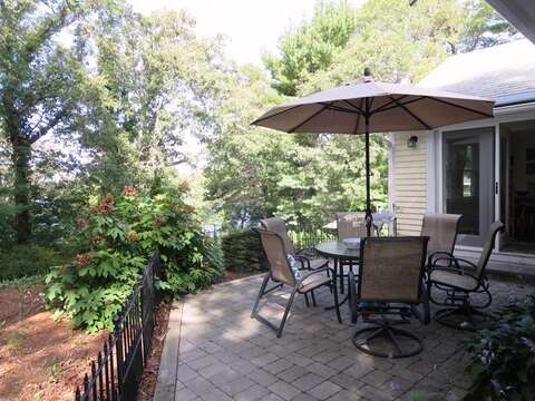 Another outdoor dining area on the upper patio! - 21 Beechwood Road Centerville Cape Cod New England Vacation Rentals