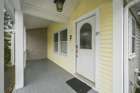 Front porch-21 Beechwood Road Centerville Cape Cod New England Vacation Rentals