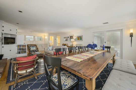 Dining and living room -21 Beechwood Road Centerville Cape Cod New England Vacation Rentals