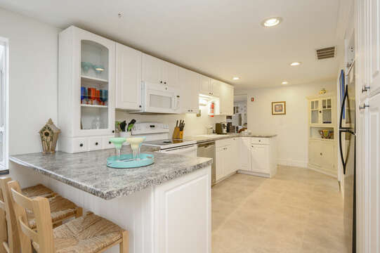 Large bright open kitchen-21 Beechwood Road Centerville Cape Cod New England Vacation Rentals