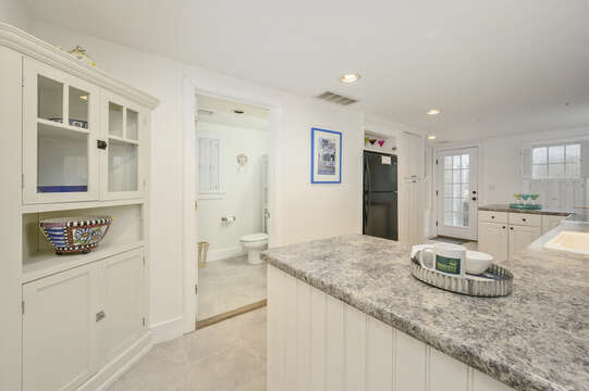 Large bright kitchen and Bath #2-21 Beechwood Road Centerville Cape Cod New England Vacation Rentals