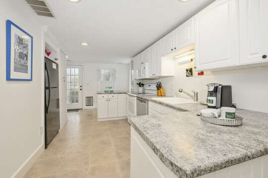 Large kitchen bright and open with fridge, dishwasher and microwave-21 Beechwood Road Centerville Cape Cod New England Vacation Rentals
