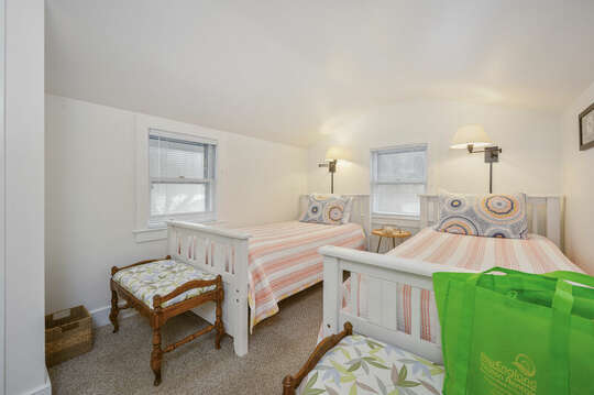 Bedroom #2 with 2 Twin beds-21 Beechwood Road Centerville Cape Cod New England Vacation Rentals