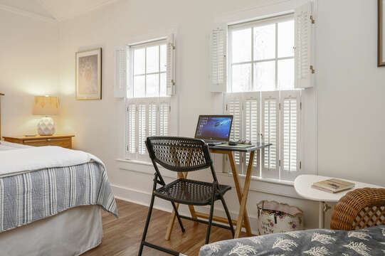 Remote work area in Bedroom #1-21 Beechwood Road Centerville Cape Cod New England Vacation Rentals