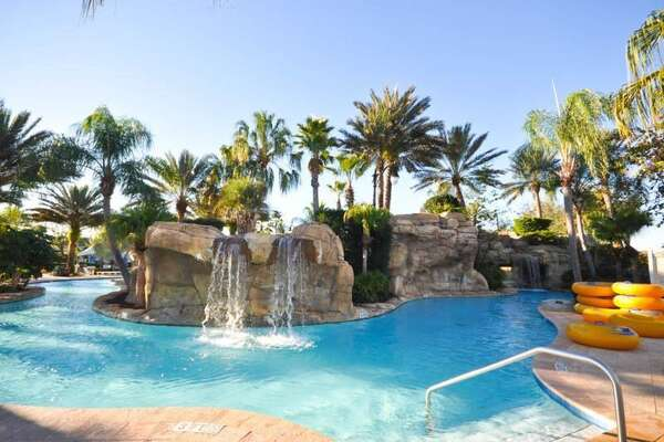 The resorts water park this home has optional access to