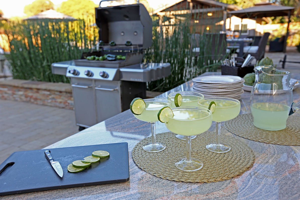 Enjoy cool drinks while grilling up a storm!