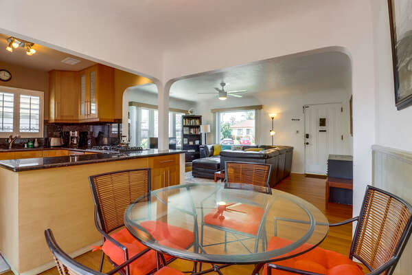 Dining table to four near the kitchen