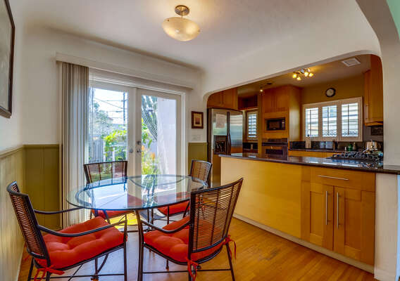 Dining table to four near kitchen
