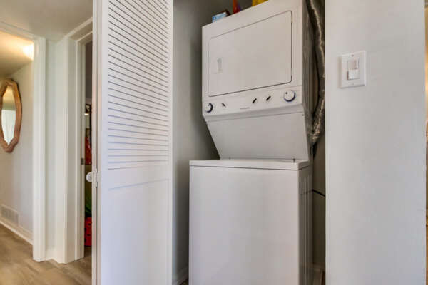 Private Laundry Available for Guests of our Waterfront San Diego Rental