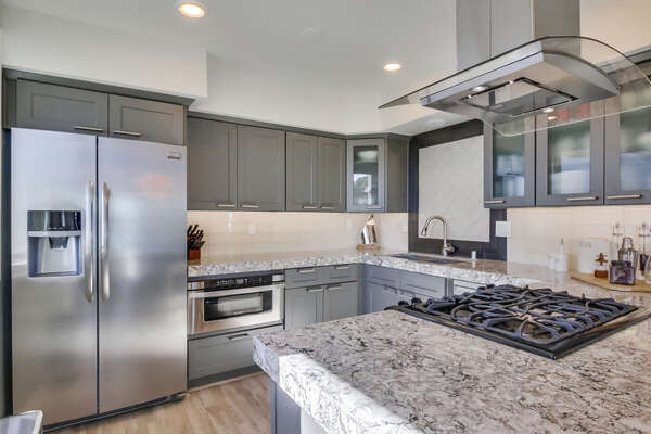 Fully Stocked Upgraded Kitchen in our Waterfront San Diego Rental