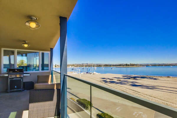 2nd Floor Bayfront Deck/Patio with BBQ