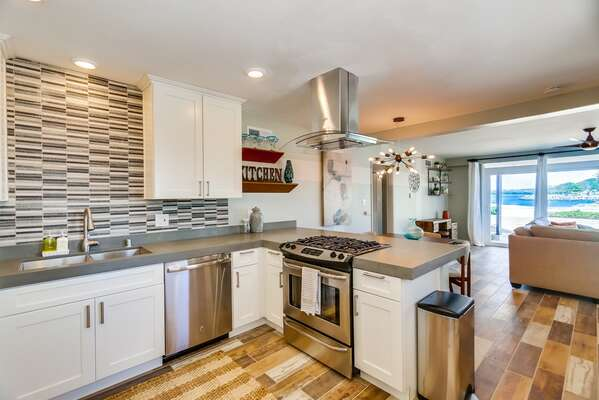 Fully Stocked Modern Kitchen in our San Diego Condo for Rent