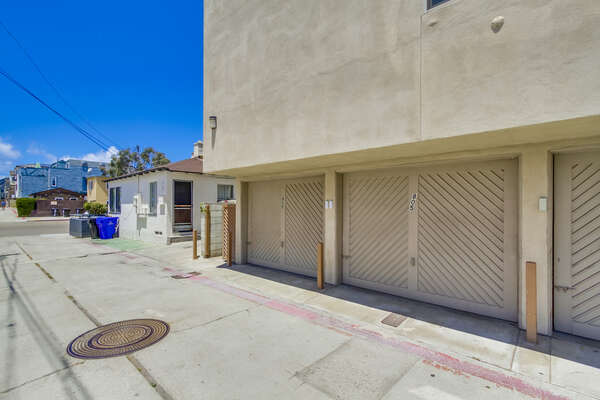 Alley to Garage.