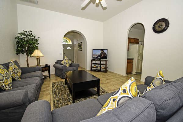 View of lounge toward front of house