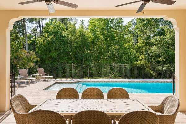 Grill up some family favorites and dine poolside