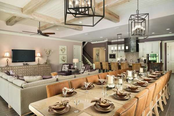Enjoy meals together in the dining area
