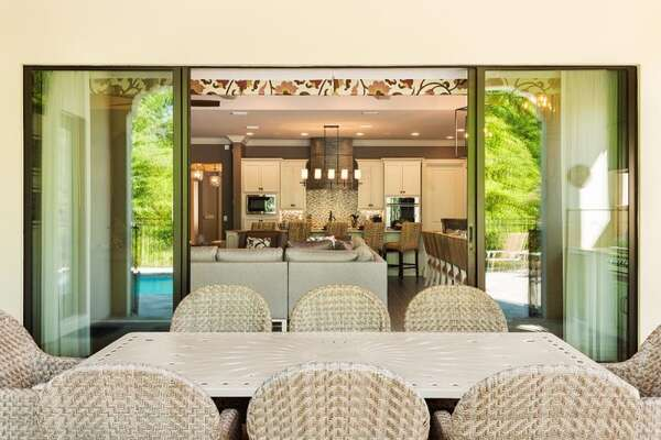 The living area and kitchen have direct access to the lanai