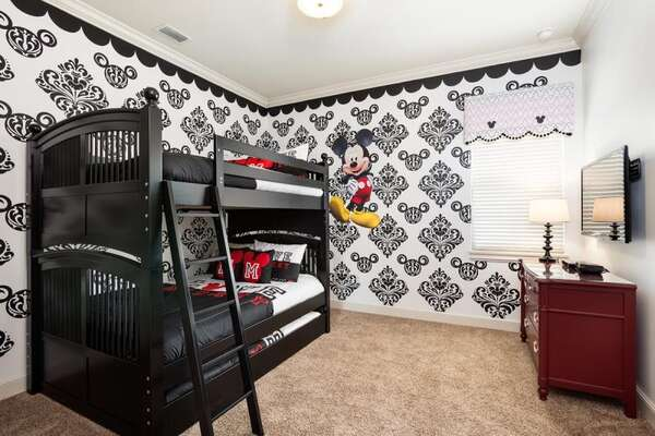 See how many hidden Mickeys you can find in upstairs bedroom 8