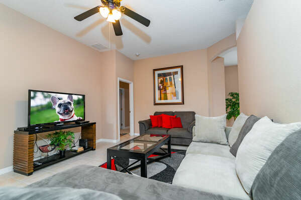 Alternative view of formal area TV