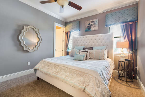 You will love the contemporary design of downstairs master suite 7 bedroom