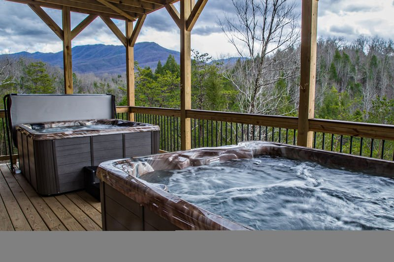 Two Hot Tubs in the Upper-Level Deck.