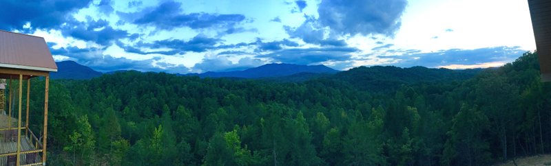 Mountain View from our Luxury Cabin in Gatlinburg, TN.