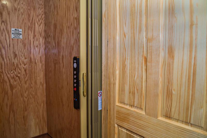The Elevator Door of our Luxury Cabin in Gatlinburg, TN.