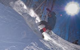 A Picture of a Skier in the Ober Gatlinburg Ski Resort.
