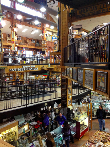 Photo of the Interior of the Smoky Mountain Knifeworks.