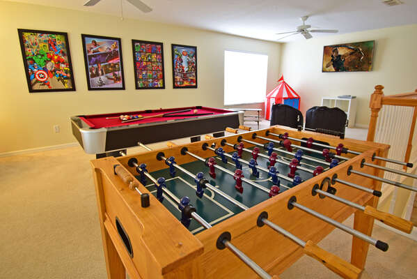 Games room (upstairs)