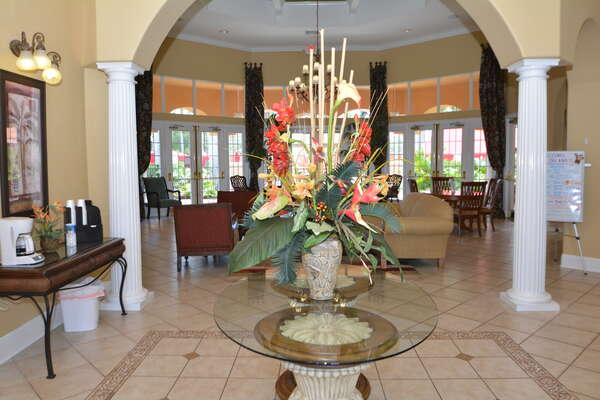 On-site facilities: clubhouse foyer