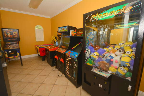 On-site facilities: gaming arcade