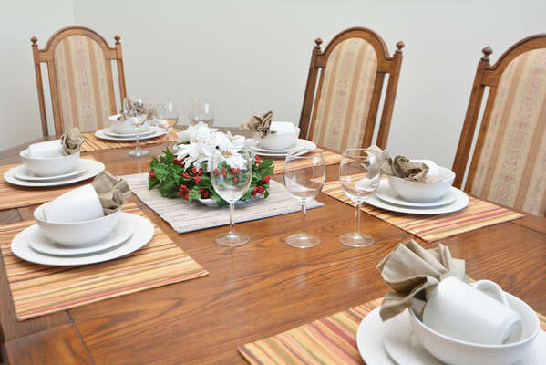 Dining table seating 6