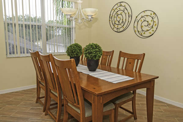 Formal dining table seating six