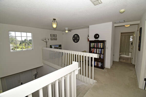 View of upstairs landing including gaming loft