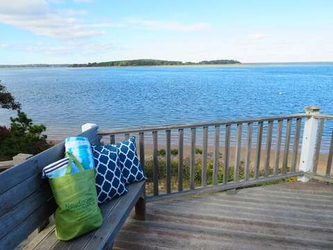 You have found: The sweet spot.. the balcony deck off the 4th bedroom.. Find yourself again-can you smell the salt in the air? - 299 Cranberry Lane North Chatham Cape Cod New England Vacation Rentals