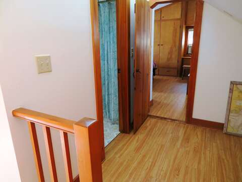2nd floor-Landing at top of stairs - bathroom to the left Entry to Bedroom 3 and 4 straight ahead- 299 Cranberry Lane North Chatham Cape Cod New England Vacation Rentals