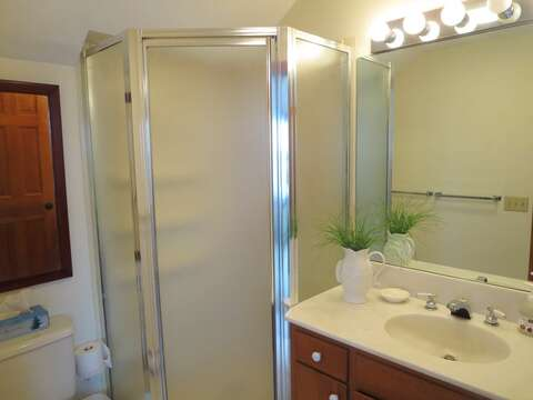 Bathroom # 1 Ensuite with Shower - 299 Cranberry Lane North Chatham Cape Cod New England Vacation Rentals
